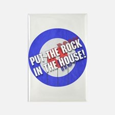 Rock In The House! Curling Rectangle Magnet