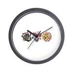 Lavender Daylilies Wall Clock