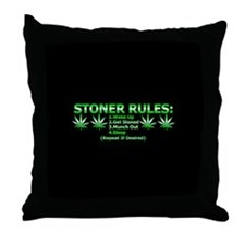 Stoner Rules Throw Pillow
