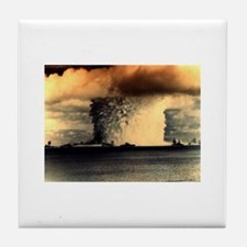 Cute Nuclear blast Tile Coaster