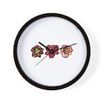 Red Daylilies Wall Clock