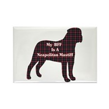 BFF Neapolitan Mastiff Rectangle Magnet (100 pack)