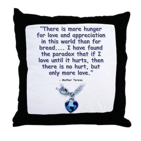 Mother Teresa Love Throw Pillow