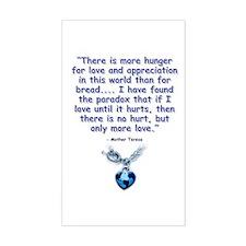 Mother Teresa Love Rectangle Decal