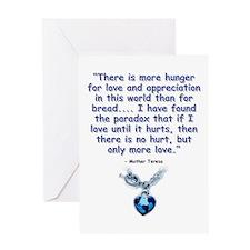 Mother Teresa Love Greeting Card