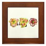 Pink Daylilies Framed Tile