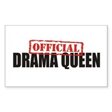 Drama Queen Rectangle Decal