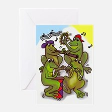 The Frog Quartet Greeting Card