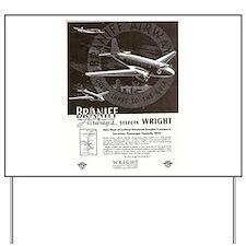 BRANIFF AIRWAYS Yard Sign