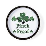 Pinch Proof Shamrock Wall Clock