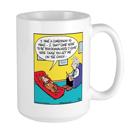 Dog Couch Therapy Large Mug