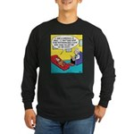 Dog Couch Therapy Long Sleeve Dark T-Shirt