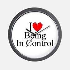 """I Love (Heart) Being In Control"" Wall Clock"