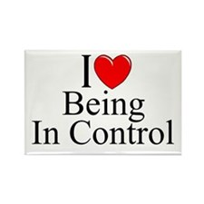 """""""I Love (Heart) Being In Control"""" Rectangle Magnet"""