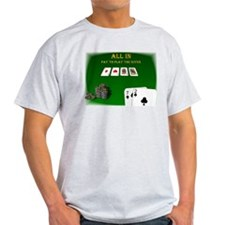 All In, Pay to Play River Ash Grey T-Shirt