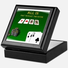 All In, Pay to Play River Keepsake Box