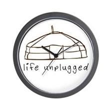 Life Unplugged Wall Clock
