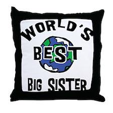 World's Best Big Sister Throw Pillow