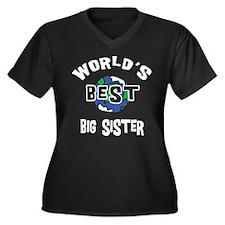 World's Best Big Sister Women's Plus Size V-Neck D