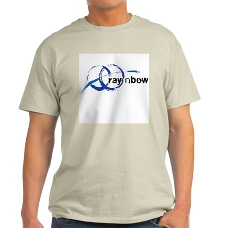 Ray 'n Bow Logo (Black) Ash Grey T-Shirt