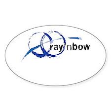 Ray 'n Bow Logo (Black) Oval Decal