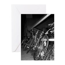 Unique Black and white bicycle Greeting Cards (Pk of 10)