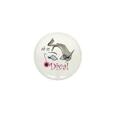 Oh so Diva Mini Button (10 pack)