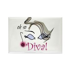 Oh so Diva Rectangle Magnet