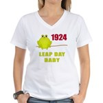 1924 Leap Year Baby Women's V-Neck T-Shirt