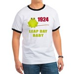 1924 Leap Year Baby Ringer T