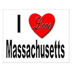 I Love Massachusetts Small Poster