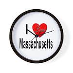 I Love Massachusetts Wall Clock