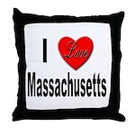 I Love Massachusetts Throw Pillow