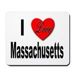 I Love Massachusetts Mousepad