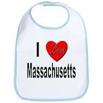 I Love Massachusetts Bib