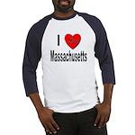 I Love Massachusetts (Front) Baseball Jersey