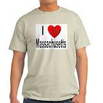 I Love Massachusetts (Front) Ash Grey T-Shirt