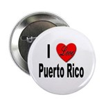 I Love Puerto Rico Button