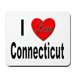I Love Connecticut Mousepad