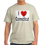 I Love Connecticut (Front) Ash Grey T-Shirt