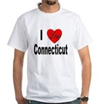 I Love Connecticut (Front) White T-Shirt
