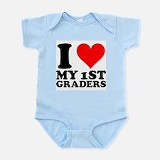 I Heart My 1st Graders Infant Bodysuit