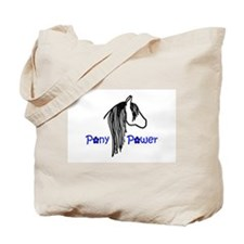 Pony Power Blue Tote Bag