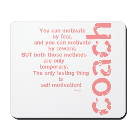 Self Motivation Pink Mousepad