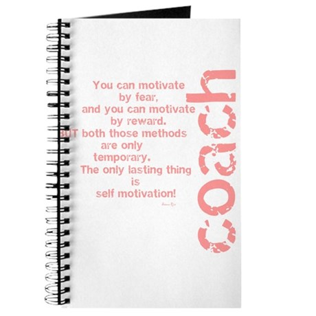 Self Motivation Pink Journal