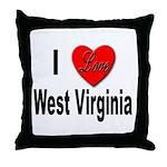 I Love West Virginia Throw Pillow