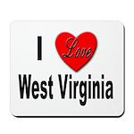 I Love West Virginia Mousepad