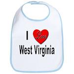 I Love West Virginia Bib