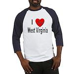 I Love West Virginia (Front) Baseball Jersey