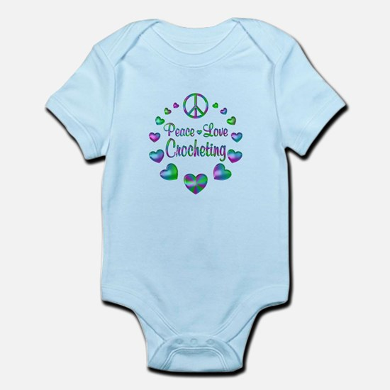 Peace Love Crocheting Infant Bodysuit
